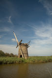 Portrait of windmill ruins Royalty Free Stock Photo