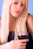 Portrait with wine Royalty Free Stock Image