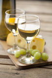 Portrait of wine with grapes Stock Image