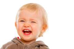 Portrait of winking adorable baby Stock Photos
