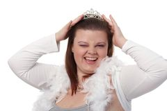 Portrait of winking plump woman Royalty Free Stock Photo