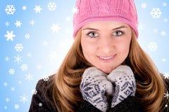portrait winter Στοκ Εικόνες