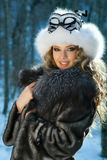 Portrait of a winter carnival woman Royalty Free Stock Image