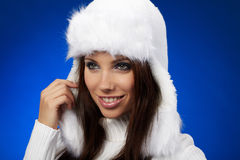 Portrait of winter girl Royalty Free Stock Photography