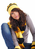 Portrait of winter girl Stock Photography