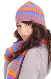 Portrait of winter girl Stock Photos