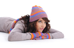 Portrait of winter girl royalty free stock images