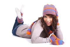 Portrait of winter girl Royalty Free Stock Photos