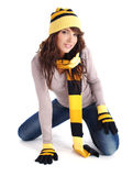 Portrait of winter girl Stock Photo