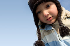 Portrait of Winter girl Stock Images