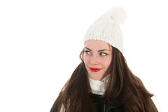 Portrait winter girl Royalty Free Stock Photo