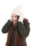 Portrait winter girl Stock Image
