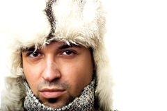 Portrait of a winter man Royalty Free Stock Image