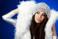 Portrait of a winter woman, Stock Photography