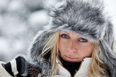 Portrait of a Winter woman Stock Photos