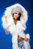 Portrait of a winter woman, fantasy fashion Stock Photo