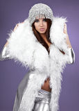 Portrait of a winter woman, fantasy fashion Stock Photography