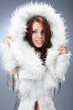 Portrait of a winter woman, fantasy fashion Royalty Free Stock Photography