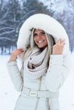 Portrait of a winter woman Stock Photography