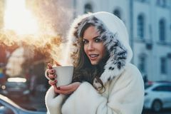 portrait winter woman young Στοκ εικόνες με δικαίωμα ελεύθερης χρήσης