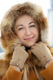 portrait winter woman young Στοκ φωτογραφίες με δικαίωμα ελεύθερης χρήσης