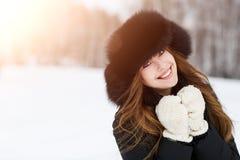 portrait winter woman young Στοκ Φωτογραφία