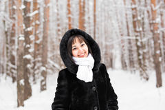 portrait winter woman young Στοκ εικόνα με δικαίωμα ελεύθερης χρήσης