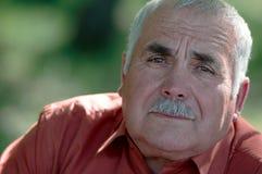 Portrait of a wistful sad senior man Royalty Free Stock Photo