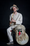 Portrait of witch doctor Royalty Free Stock Image