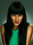 Portrait of a woman. Portrait of angry girl with special effects of photoshop Royalty Free Stock Photos