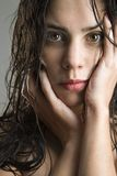 Portrait of woman. royalty free stock photography