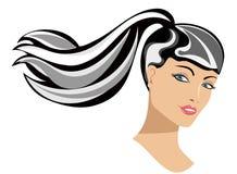 Portrait of Woman Long Hair stock photos