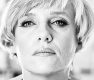 Portrait of a woman. Portrait of middle aged woman Royalty Free Stock Photography