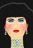 Portrait of a woman. Illustration of an glamorous black haired woman Stock Photos