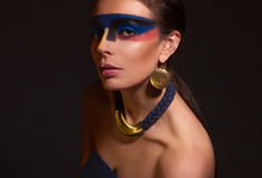 Portrait of woman with art make-up Stock Photo