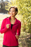 Portrait of a woman in athletic clothing. Royalty Free Stock Photo