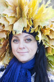 Portrait of the woman in autumn Royalty Free Stock Photos