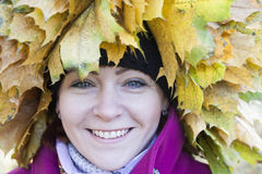 Portrait of the woman in autumn Royalty Free Stock Photography