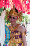 Portrait of woman during Balinese New year ceremony in Bali, Ind Stock Image