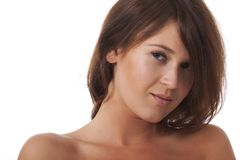 Portrait of woman with bare shoulders Stock Photo