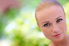 Portrait of woman with beautiful eyes Stock Photo