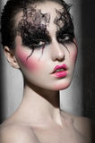 Portrait of a woman with Beautiful makeup Royalty Free Stock Image