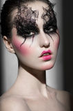 Portrait of a woman with Beautiful makeup Stock Photo