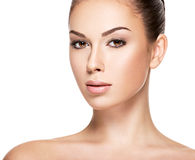 Portrait of the woman with beauty face Royalty Free Stock Images