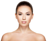 Portrait of the woman with beauty face royalty free stock photos