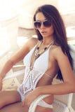 Portrait of woman in bikini Royalty Free Stock Photo