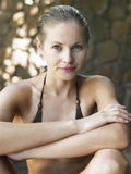 Portrait Of Woman In Bikini Royalty Free Stock Images