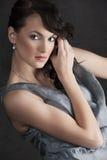 Portrait woman on black Stock Photo