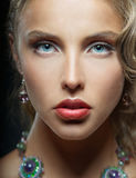 Portrait of woman with blue eyes Royalty Free Stock Image