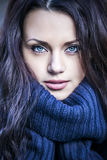 Portrait of a woman with blue eyes Royalty Free Stock Photography